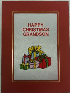 PERSONALISED PRESENTS CHRISTMAS CARD